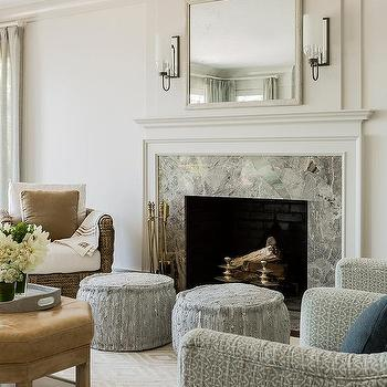 living room pouf ideas to decor small gray woven poufs design gold diamond print rug with marble fireplace surround