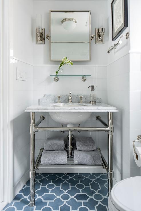 Light Blue Bathroom Vanity Transitional Bathroom