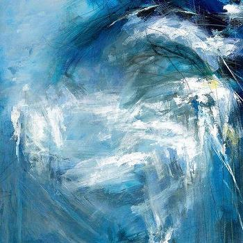 modern blue white abstract