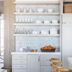 Kitchen Island Lanterns Teak Chairs Gray Cabinets - Cottage Southern Living