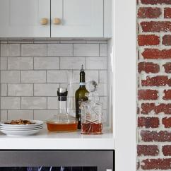 Kitchen Cabinets Knobs And Pulls Stainless Steel Packages White Exposed Brick Walls Design Ideas