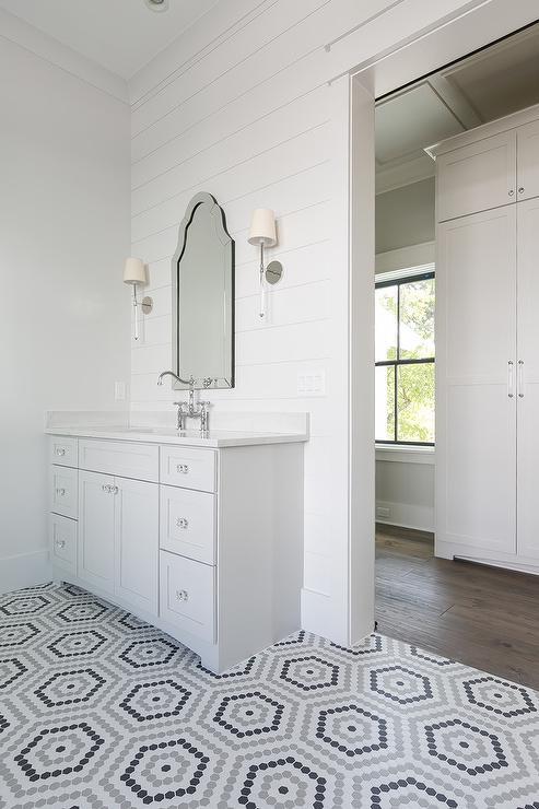 Arch Frameless Mirror  Traditional  bathroom  Kerrisdale Design