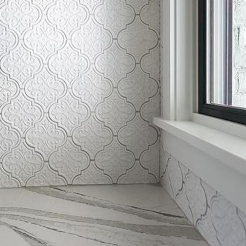 large arabesque butlers pantry wall