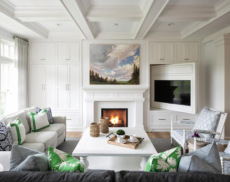 living room wall ideas with tv best ergonomic chairs for white fireplace mantle black brick surround and ...