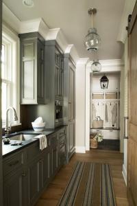 Gray Kitchen Cabinets - Contemporary - kitchen - Munger ...