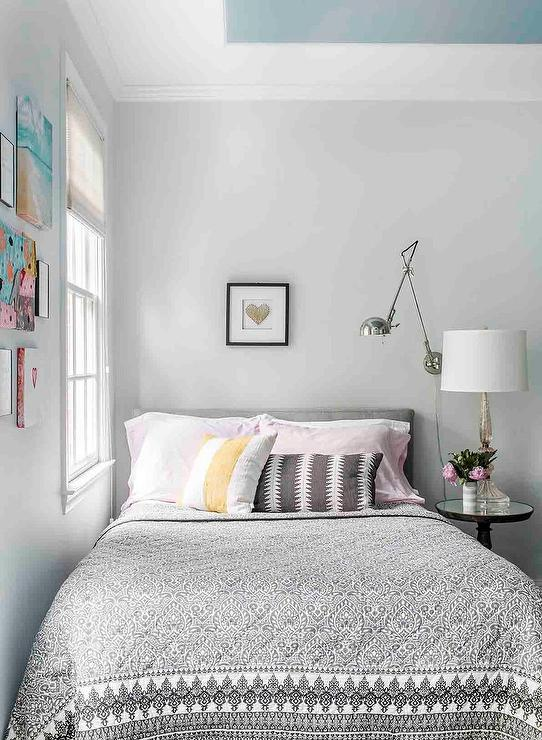 Traditional bedroom with beige walls