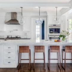 Kitchen Stools With Back Clear Glass Pendant Lights For Island Interior Design Inspiration Photos By Lda Architects.