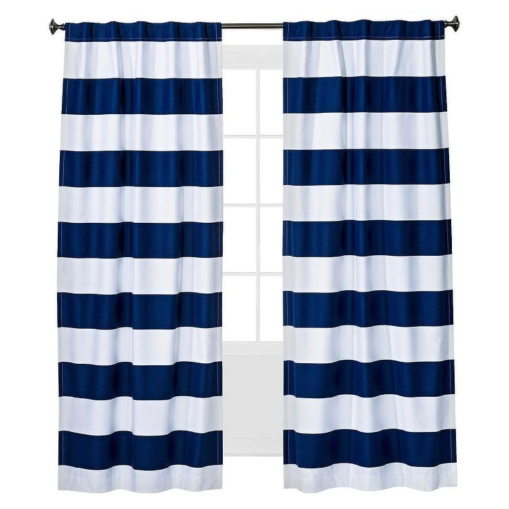 Rugby Blue White Blackout Panel