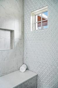 Quatrefoil Tile - Transitional - bathroom - Tracery Interiors