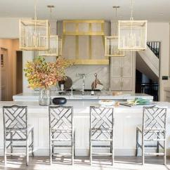Kitchen Lanterns Home Depot Flooring Square Glass And Brass Design Ideas Over Long White Island