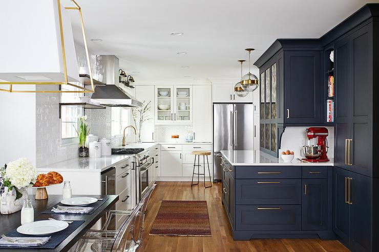 Blue Shaker Kitchen Cabinets Design Ideas