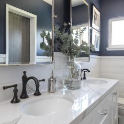 Oil Rubbed Bronze Kitchen Faucet Renovated Navy Dual Bathroom Vanity With White Marble Top ...