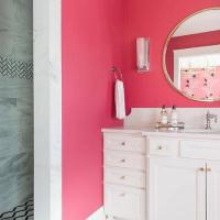 Neon Pink Wall Paint - Contemporary - bathroom - Benjamin ...