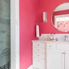 Geometric Accent Chair Swivel Michael Murphy Neon Pink Wall Paint - Contemporary Bathroom Benjamin Moore Hot Lips Courtney Blanton ...