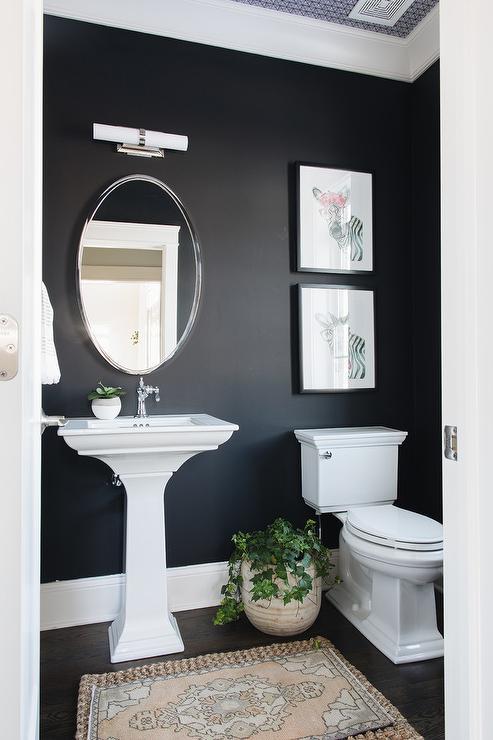 Pink Powder Room  Contemporary  bathroom  Cullman  Kravis