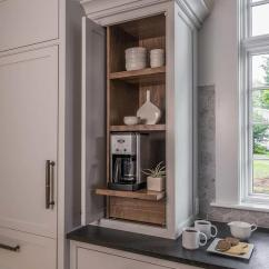 Kitchen Island Cabinets Standard Table Size Wood Paneled Refrigerator And Freezer Drawers - Cottage ...