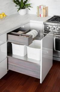 Custom Kitchen Waste Drawer With Dual Garbage Cans Design ...