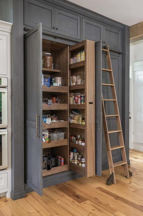 inset kitchen cabinets open designs in small apartments floor to ceiling pull out pantry cabinet - transitional ...