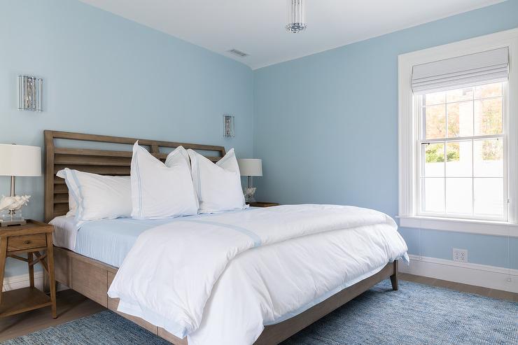 Girl Bedroom Wallpaper Border Serene Blue And Brown Bedroom Colors Transitional Bedroom