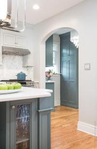 Blue Gray Kitchen Cabinets - Contemporary - kitchen ...