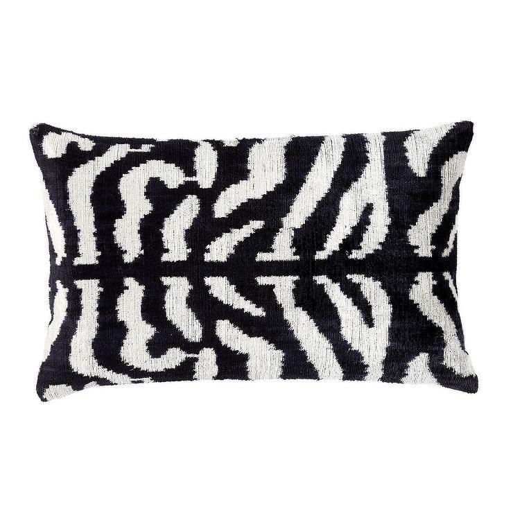 bridget rectangular black white velvet