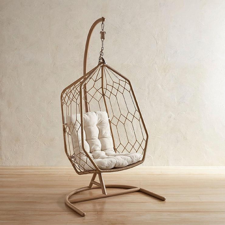swingasan hanging chair fisher price portable high light brown hexagon rattan