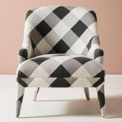 Black And White Accent Chairs With Arms Rocking Chair Pillows Amelia Buffalo Check