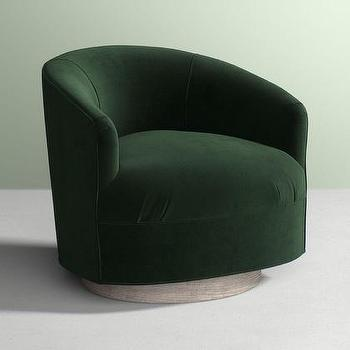 green velvet swivel chair wine barrel products bookmarks design inspiration amoret forest curved