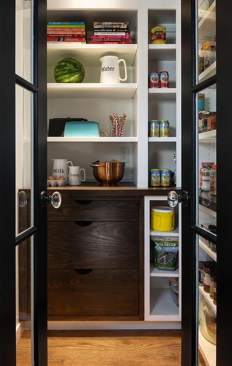Pantry with BiFold Doors  Country  kitchen  Atlanta Homes  Lifestyles