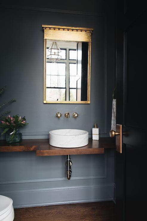 Reclaimed Wood Floating Vanity  Transitional  Bathroom