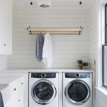 laundry room hanging drying rack design