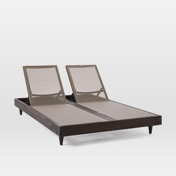 portside weathered wood outdoor chaise