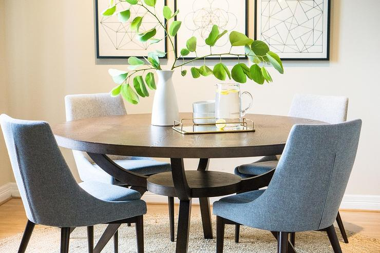 dark brown wooden dining chairs used captain for boats gray at round wood table transitional