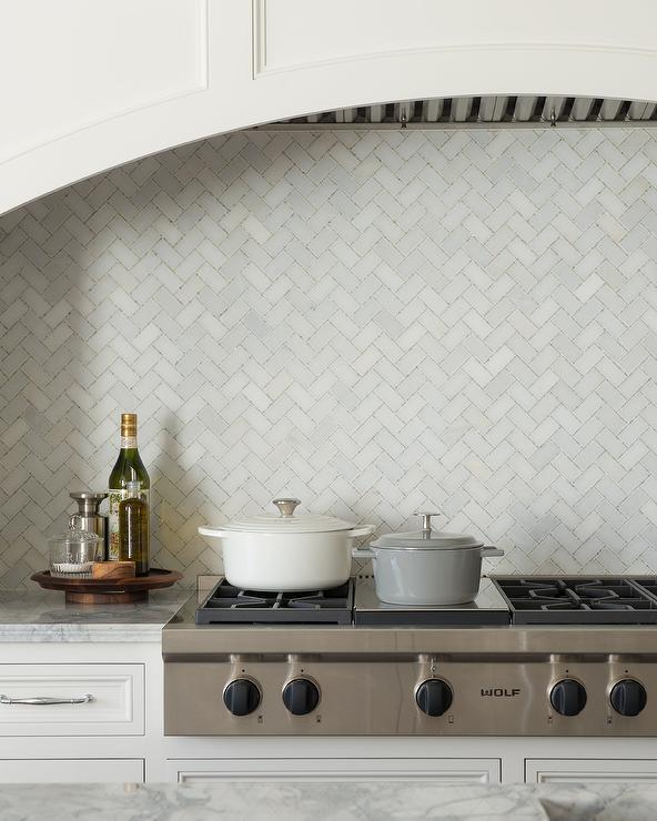 marble herringbone pattern tiles
