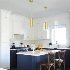 Brass Kitchen Pulls Commercial Supplies White And Blue With Gold Accents - Transitional ...