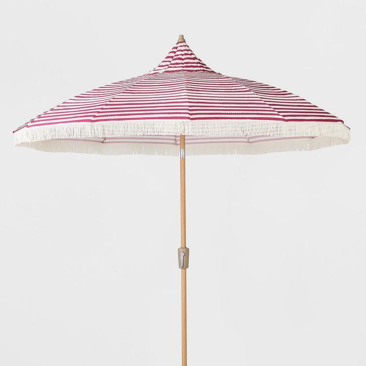 opalhouse pink white striped fringed