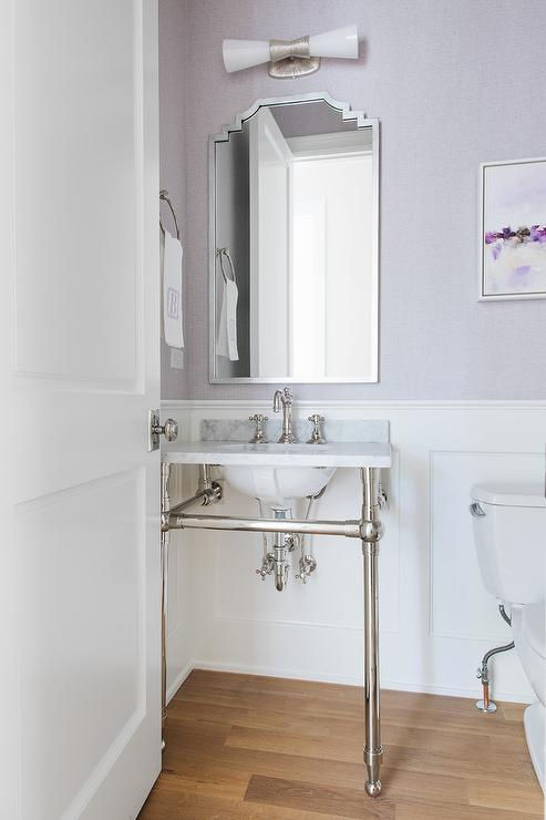 Art Deco Powder Room Design  Hollywood Regency  Bathroom