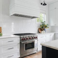 Kitchen Hood Design Travel Trailers With Outdoor Kitchens Flanked By Windows Ideas White Plank Range Square Porcelain Tiles