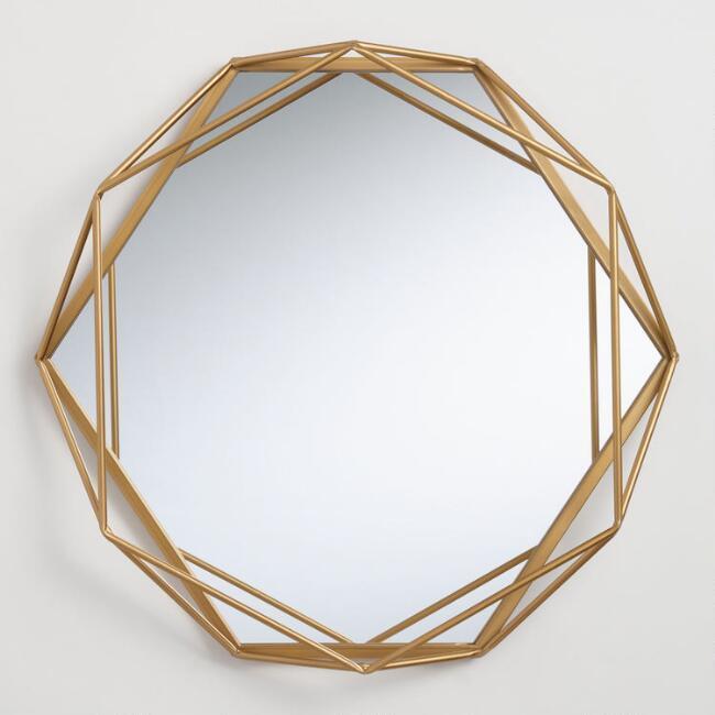 Emma Round Gold Frame Mirror