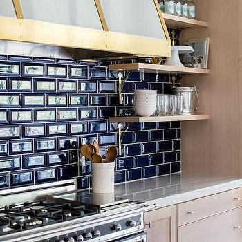 kitchen beveled subway tile backsplash