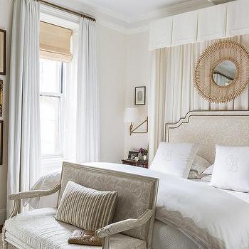 curtains behind headboard design ideas