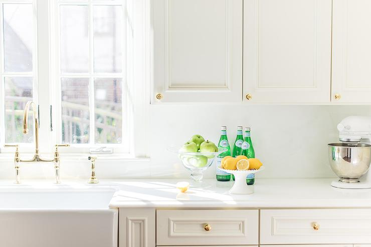 off white kitchen cabinets with white