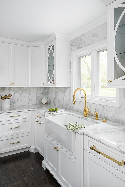 Brass Gooseneck Kitchen Faucet Design Ideas