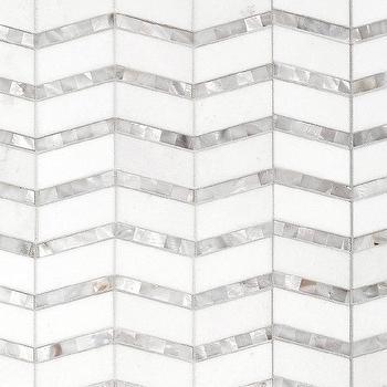 mother of pearl chevron tiles look 4