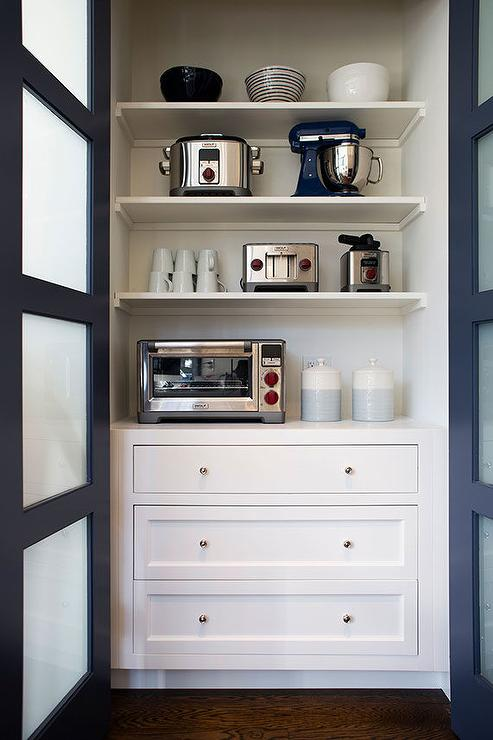 Walk In Pantry With Wall Mount Snack Shelves