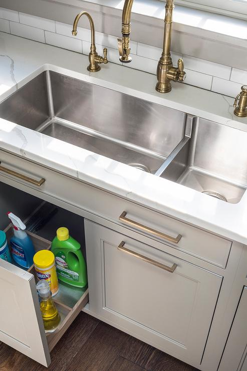under sink pull out tray transitional