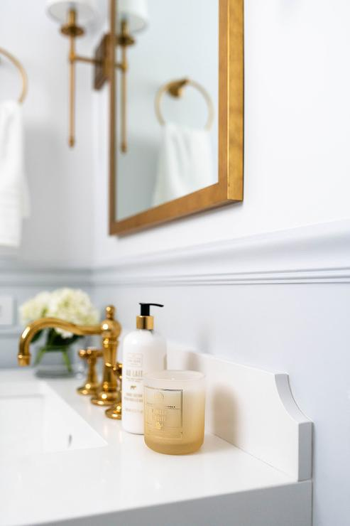 polished brass bathroom faucet design ideas
