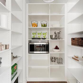 walk in pantry microwave design ideas