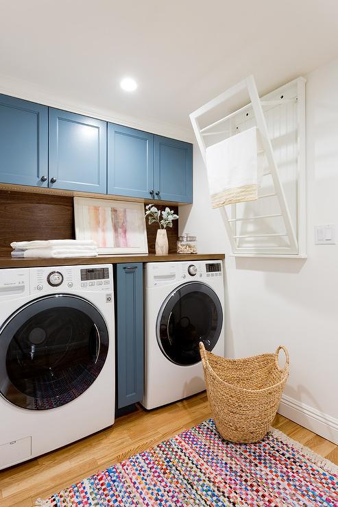 drying rack over washer dryer design ideas