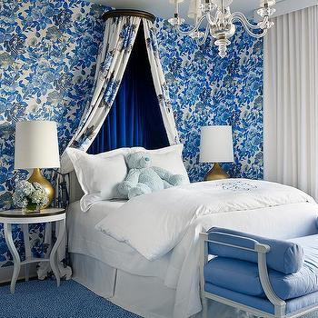 Cobalt Blue Velvet Headboard Design Ideas